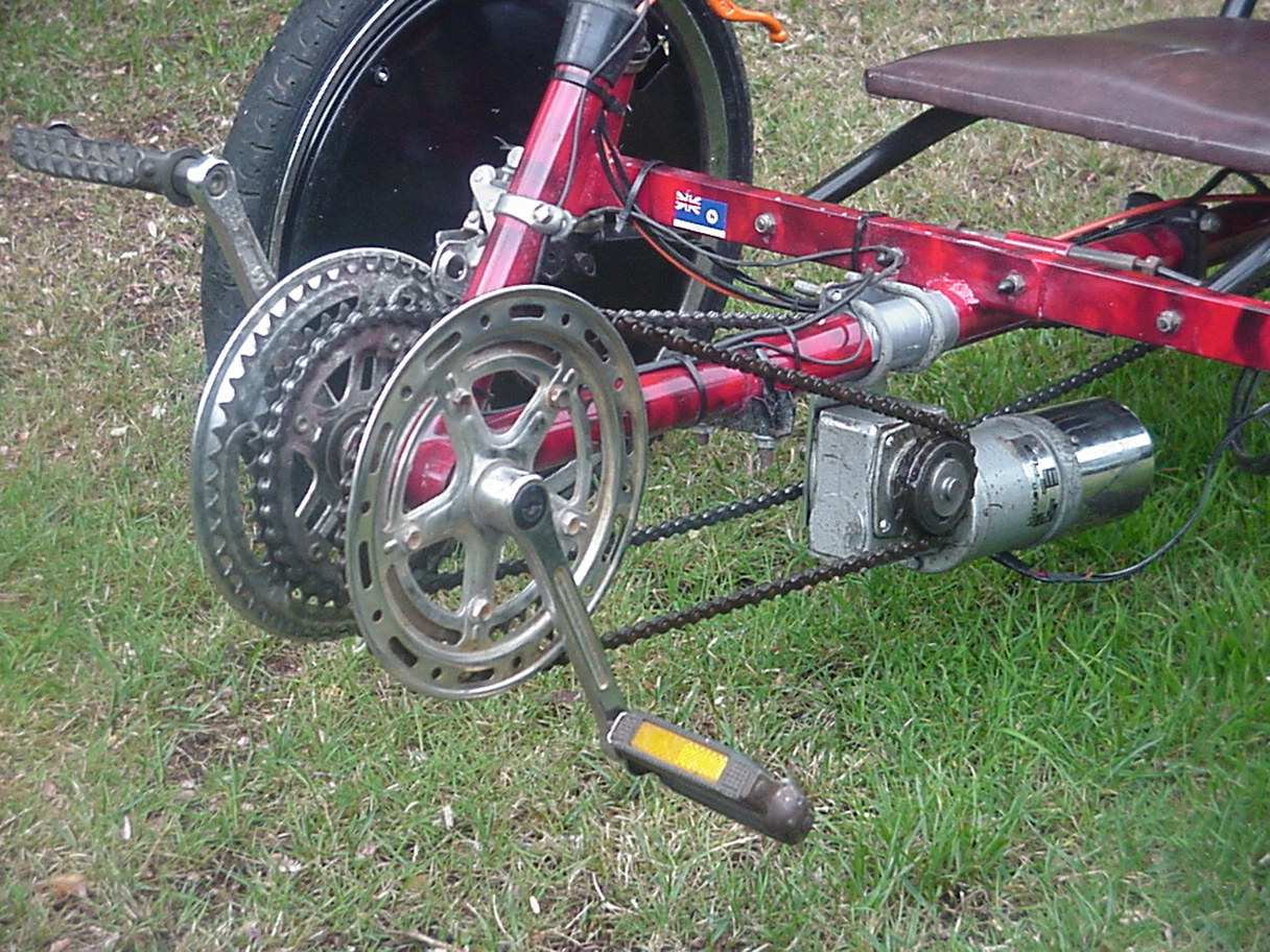 Electric recumbent trike for Recumbent bike with electric motor
